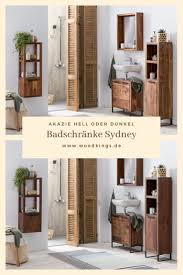 woodkings badschränke sydney badmöbel badschrank holz