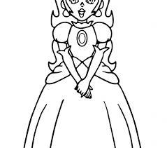 Princess Peach Coloring Pages Super Mario Page Free Printable