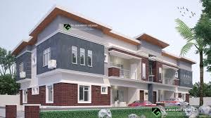 100 Semi Detached House Design Detached House Plan 4 Units 2 Bedroom Flat All Rooms