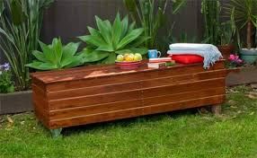 great wooden garden storage bench seat storage bench box outdoor