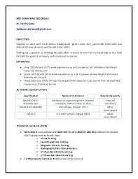 Certified Welding Inspector Resume Entry Level Best Welder Sample Objective Net Student For Aws