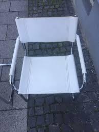 freischwinger stuhl leder weiß chrom