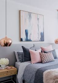 Blush White And Grey Bedroom Inspiration