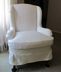 Pottery Barn Napoleon Chair Slipcover by Queen Anne Leather Wingback Chair
