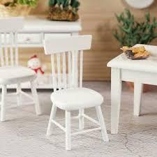 details zu 1 12 diy puppenhaus miniatur esszimmermöbel holz weiß stuhl dekor