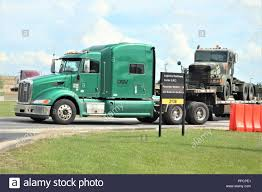 100 Military Semi Truck A Contracted Driver Prepares To Move A Military Truck On A Semi