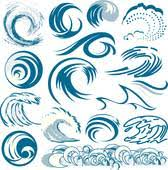 Set of wave symbols Wave Collection