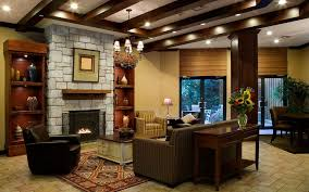 living room calm country style living room with stone fireplace