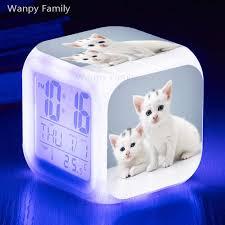 digital wecker nette katzen leucht despertador reloj temperatur uhr kinder schlafzimmer le tale uhren alarm horloge hintergrundbeleuchtung