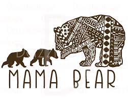 Mama Bear And Cubs Design Intricate Aztec Mehndi Tribal Z On Cub Tattoo Back Photo