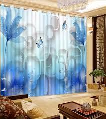 anpassen neue 3d vorhänge fantasie blau blume vorhänge für wohnzimmer schlafzimmer dekoration fenster vorhang