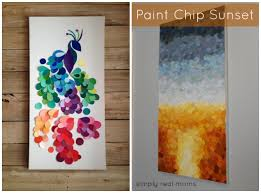 DIY Paint Chip Peacock And Sunset Top 15 Projects For Home Decoration