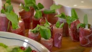 berry canapes parma ham goats cheese and rocket canapés by berry food
