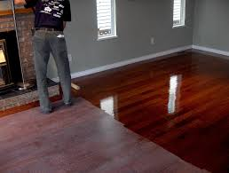 Restaining Wood Floors Without Sanding by Beautiful Wood Floor Refinishing Without Sanding How To Refinish