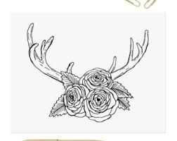 Antlers And Peonies