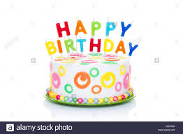 happy birthday cake or tart with happy birthday letters as