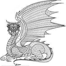 Click To See Printable Version Of Dragon Zentangle Coloring Page