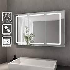 eurosan 3 türiger spiegelschrank integrierte led
