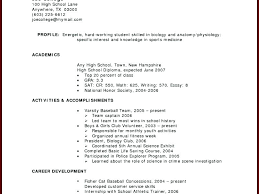 No Experience Resume Examples For College Students With Work