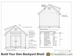 12x16 Shed Plans Material List by 12x16 Shed Plans With Dormer Icreatables Com