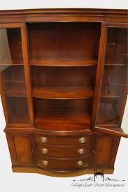 Vintage Duncan Phyfe China Cabinet by High End Used Furniture Drexel Travis Court Mahogany Duncan