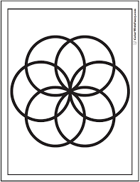 Venn Diagram Geometric Coloring Sheet Fun Daisy To Color