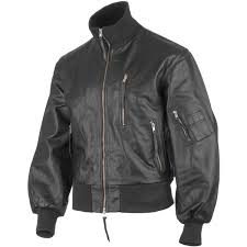 classic bw german army style leather mens flight pilot bomber