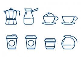 Coffee Minimalist Icon Vectors