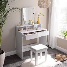 vasagle schminktisch rdt113w01 schminktisch frisiertisch mit spiegel kosmetiktisch weiß kaufen otto