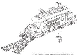Plush Design Lego Train Coloring Pages City Colouring