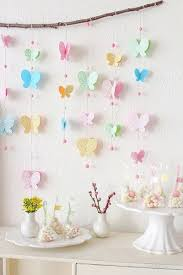 DIY Floral Printed Paper Butterfly Mobile With Branch