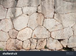 Oracle Tile And Stone Marble by Cyclopean Wall Oracle Delphi Greece Characterized Stock Photo