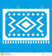 Turkish Carpet Icon White Stock Vector Illustration Of Asian