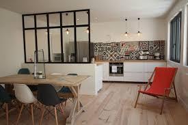 idee mur cuisine idée mur de séparation cuisine salle à manger maison