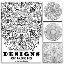 Image Is Loading Adults Coloring Book Designs Mandala Beautiful Patterns Stress