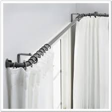 Spring Loaded Curtain Rod Bunnings by Double Curtain Rod Brackets Target Curtain Ideas