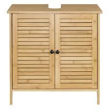 details zu badschrank bambus waschbecken unterschrank waschtisch badmöbel badezimmer 0017wy
