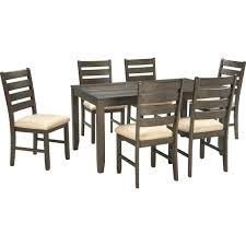 Bobs Furniture Dining Room Chairs by Signature Design By Ashley 7 Pc Rokane Dining Set Dining Sets