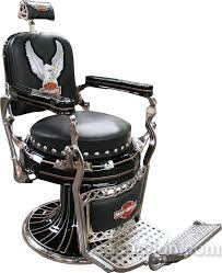 Emil J Paidar Barber Chair Headrest by Paidar Barber Chair Restored In Harley Davidson Motorcyle Style
