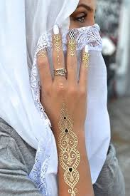 Metallic Henna Tattoo