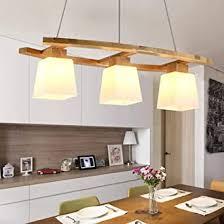 zmh pendelleuchte esstisch rustikal hängele aus holz glas hängeleuchte esstischle e27 3 flammig für esszimmer wohnzimmer büro cafe leuchtmittel
