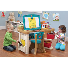 Step2 Deluxe Art Desk With Splat Mat by Step2 Deluxe Art Master Desk With Chair Walmart Home Chair