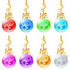 Snowflake Clipart Free New Christmas Tree Decorations Balls With