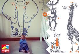 stickers jungle chambre bébé stickers pour chambre bébé et chambre enfants sur le thème safari