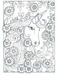 Unicorn Drawing Pages Coloring Of Unicorns Hard And