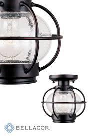 Pottery Barn Outdoor Ceiling Light by Best 25 Rustic Outdoor Flush Mounts Ideas On Pinterest Mason