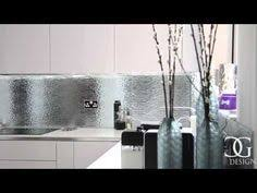 Patterned Mirror Kitchen Splashbacks Are Made Using 6mm Toughened Glass Mirrors With Pattern On The Reverse Side To Ensure A Smooth Surface For Th