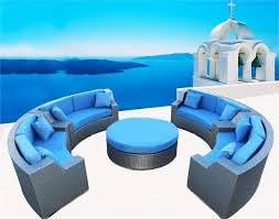 Semi Circle Outdoor Patio Furniture by Sofa Endearing Round Outdoor Sectional Sofa Magnificent