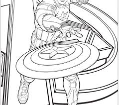 Captain America Coloring Pages Avengers Page Free Printable To Download