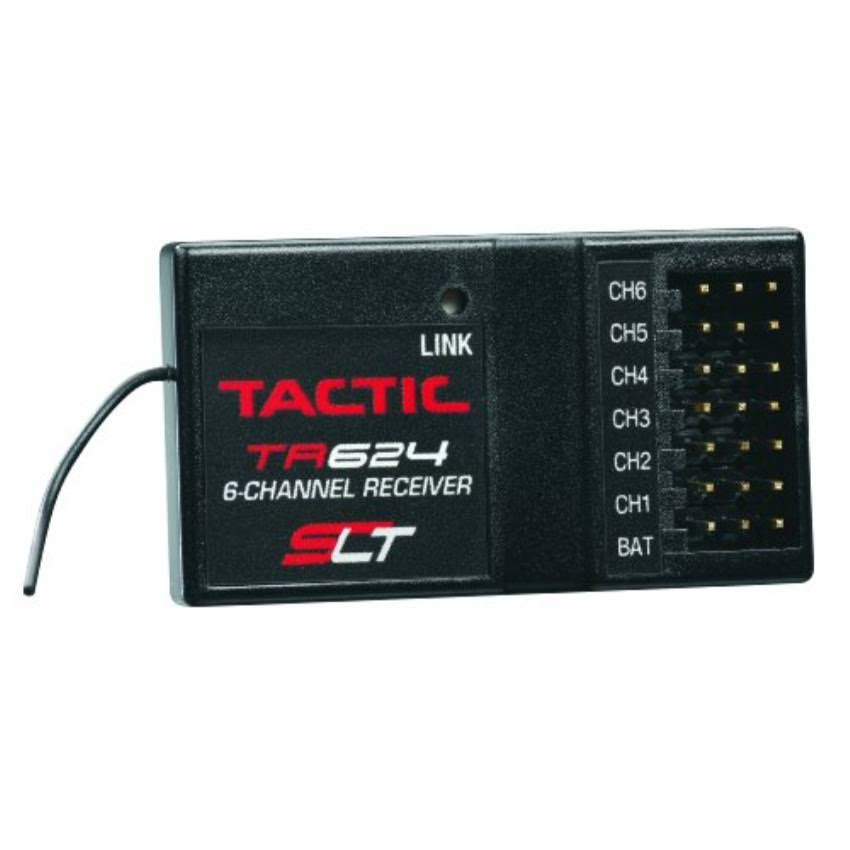 Tactic TR624 Receiver - 2.4Ghz, 6 Channel